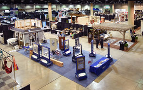 The show floor was a beehive of activity Thursday as vendors built their booths and set up their products. (Joe Songer | jsonger@al.com).