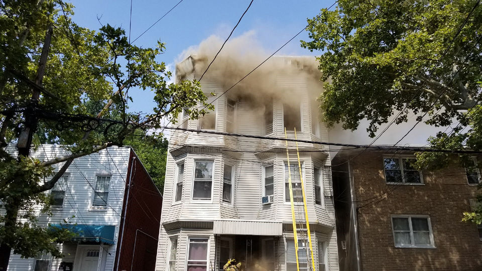North Jersey fire displaces 6 families, sends 3 firefighters to hospital