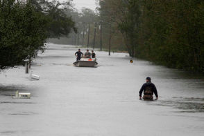 Rivers are swelling toward record levels, forecasters now warn, and thousands of people have been ordered to evacuate.