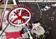 Six Flags debuts new ride; Harley Quinn Spinsanity is 'spinsane' (drone photos, video)
