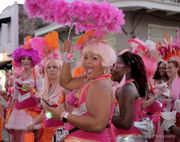 FestiGals sashay through French Quarter in Step Up Second-Line Parade