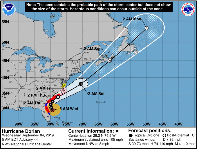 Hurricane Dorian update: Storm tracks dangerously close to