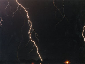 """Lightning has a reach far beyond the storm that generates it. Ever heard of a """"bolt from the blue""""? That's the term for a bolt of lightning that comes out of the backside of a storm and can travel a decent distance away from the parent cloud. According to the National Severe Storms Laboratory these bolts from the blue have been documented traveling more than 25 miles away from the thunderstorm. The rule is take shelter when you hear thunder, no matter what's in the sky above you."""