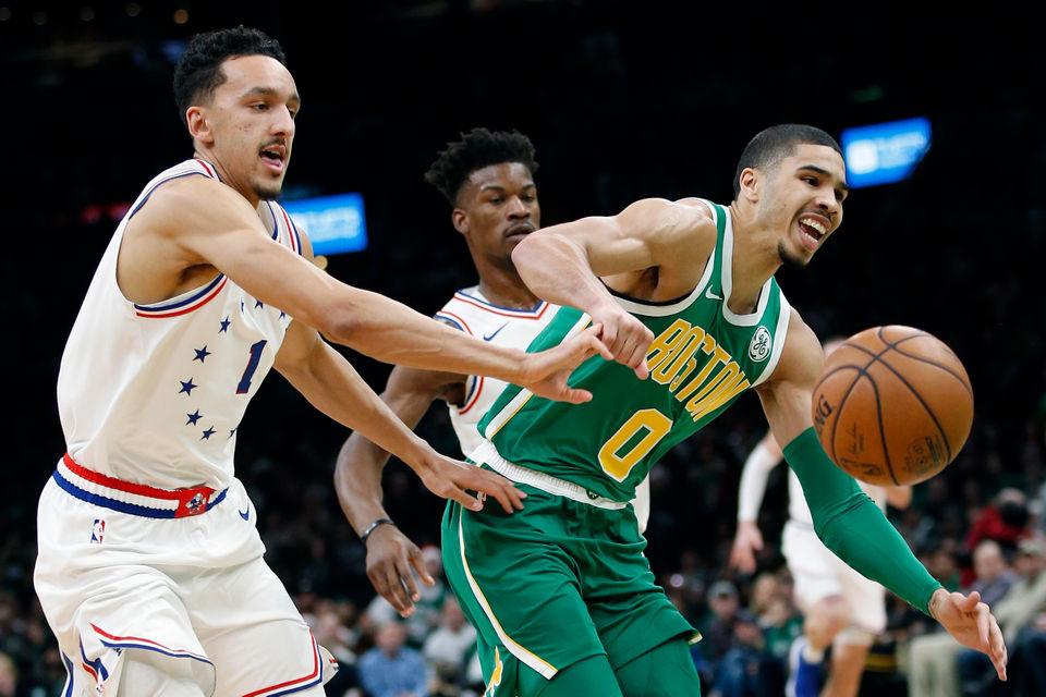 san francisco a9b45 1d98e Boston Celtics edge Philadelphia 76ers 121-114: Maybe Kyrie ...