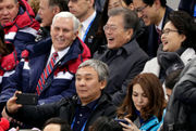 Heading home from Winter Olympics, Mike Pence asserts unity on pressuring North Korea
