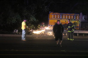 Two people were injured when a Nancy Run fire truck responding to a call crashed int an SUV Sept. 24, 2018 in Bethlehem.