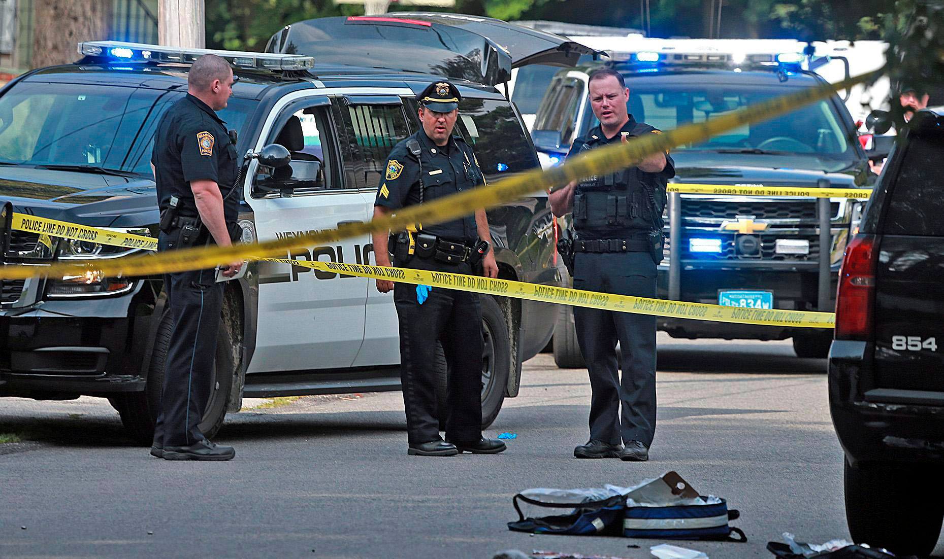 <p>Weymouth Police Officer Michael Chesna was fatally shot Sunday morning after being attacked by a suspect, according to the Norfolk District Attorney's office.</p> <p>Chesna at 7:30 a.m. responded to a report of an erratic driver in the area of South Shore Hospital and saw the suspect actively vandalizing a home. Chesna drew his firearm and commanded the suspect to stop, the district attorney's office said.</p> <p>However, the suspect, identified as Emanuel Lopes, allegedly attacked Chesna with a large stone, striking the officer in the head. Lopes took Chesna's firearm and shot him multiple times in the head and chest.</p> <p>Chesna, 42, was rushed to South Shore Hospital with life-threatening injuries. He and a civilian who was shot as a chase of Lopes ensued both died of their injuries.</p> <p>Chesna was an army veteran and is survived by his wife and two children. He joined the department six years ago.</p> <p>Police departments across Massachusetts are offering condolences to Chesna's family and the Weymouth Police Department.</p>