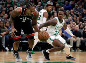 BOSTON --Kyrie Irving poured in 43 points as the Boston Celtics overcame a double-digit second-half deficit in a 123-116 victory over the Toronto Raptors on Friday. The win vaulted the Celtics to 9-6 and gave them a statement win against an Eastern Conference juggernaut. Here are 10 things we learned.