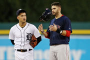 J.D. Martinez hitless in return to Comerica Park as Red Sox beat Tigers, 1-0