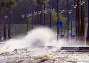 See photos: Waves crash the shoreline of Lakeshore Drive in New Orleans