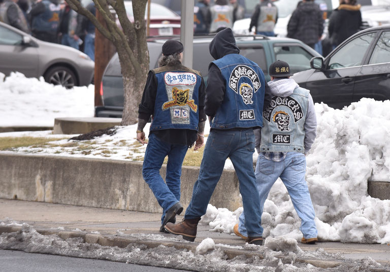 why members of the pagans motorcycle club gathered in northampton lehighvalleylivecom