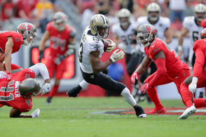 It's beginning to sound like a broken record but Michael Thomas was Brees' go-to man in nearly every critical situation. Time and time again, he found the soft spot in the Buccaneers' zone defense to convert third downs and move the chains. He finished with game-high totals of 11 catches in 13 targets for 98 yards. The rest of the Saints' receiving corps combined for just three receptions for 41 yards. Even with opposing defenses concentrating their coverages on him, Thomas somehow continues to produce. He is well on his way to a second Pro Bowl season.