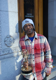 Comedian Katt Williams - and his Emmy - show up to Portland courthouse