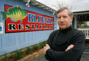 An institution on Battleship Parkway in Spanish Fort, the Blue Gill Restaurant has been battered by at least two hurricanes, but the venerable seafood establishment keeps coming back. Wallace and Evelyn Jonhston opened the Blue Gill in 1958, and the couple ran it for about 40 years. Fairhope businessman Harry Johnson (pictured above) later bought the Blue Gill from the original owners' daughter, Sandra Weekley, and ran it until he sold it in 2008. The Blue Gill was destroyed by Hurricane Frederic in 1979 but was later rebuilt, and in 2005, it was severely damaged by Hurricane Katrina but reopened a year later. The menu features seafood fresh from the Gulf, including the Blue Gill's signature gumbo and crab claws.  Address: 3775 Battleship Parkway, Spanish Fort. Phone: 251-625-1998 Website: www.bluegillrestaurant.com.