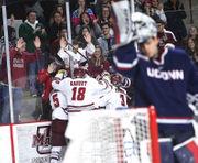 No.1 UMass hockey shut out by No. 8 Quinnipiac, 4-0, on the road