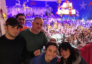 From left to right, you have Jack, his brother Danny Jr., 24, father Danny, 50, sister Stephanie, 23, and mother Maria, 50 -- who all chip in to create an incredible holiday setting inside their home.