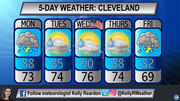 Staying hot in 80s, 90s and chances of rain for July 4 week in Cleveland: 5-day weather forecast