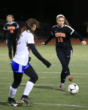 Nora Young, Julia Gauvin lead Granby girls soccer into State Division IV title game over Uxbridge Wednesday, 2-1. (DOUG STEINBOCK / MASSLIVE)