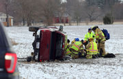 Driver resuscitated, taken to hospital after rollover crash
