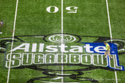 Superdome field goes from black and gold to crimson and orange: Photo gallery