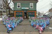 Jiggy's Cafe donates 100 bikes to Toy For Joy; Villa Rose, Belchertown Lions Club contribute $700 (photos, video)