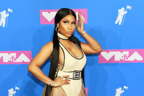 Nicki Minaj attends the 2018 MTV Video Music Awards at Radio City Music Hall on August 20, 2018 in New York City.