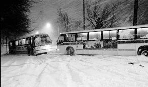 Buses were stuck in both directions on Guyon Avenue at Hylan Boulevard for over two hours, blocking all access to Guyon.
