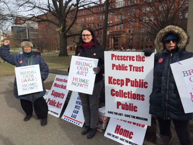 Berkshire Art Museum protesters rally in Cambridge as part of effort to stop sale of Rockwells and other art