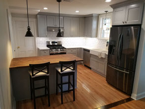 Dillon Lawler renovated the kitchen of the 1937 Cedar Grove home he shares with his wife, Taylor,and their young son.