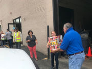 Six Flags New England donates more than 500 boxes of diapers to Springfield's Square One (photos)
