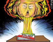 Editorial cartoons for May 13, 2018: Trump blows up the Iran nuclear deal