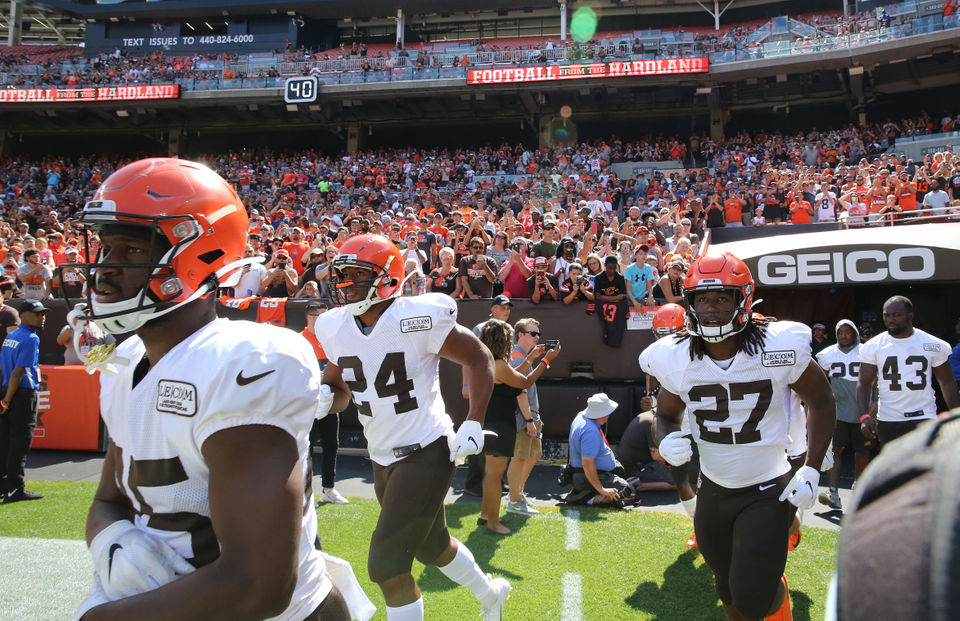 What happened at the Orange and Brown Scrimmage, August 3, 2019