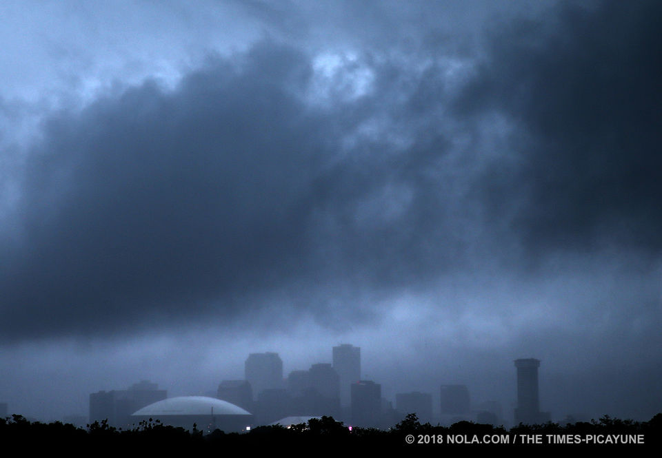 Bad weather moves through the New Orleans area Saturday