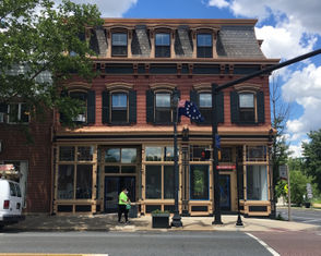 Developer Peter Georgoutsos won the Easton Mayor's Historic Restoration Award for 2015 when he renovated this Victoria era structure at 101 Northampton St. He custom-made the posts, the railings, the window pediments, the ornamental woodwork and restored the windows and roof. The building is one of the first you see as you enter Pennsylvania from the free bridge.