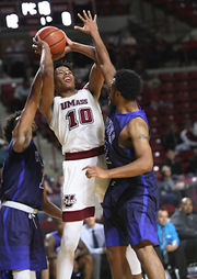 Luwane Pipkins leads UMass men's basketball in exhibition-game win over Westfield State (photos)