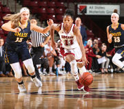 Asia McCoy's double-double aids UMass women's basketball in exhibition-game win over UMass Dartmouth