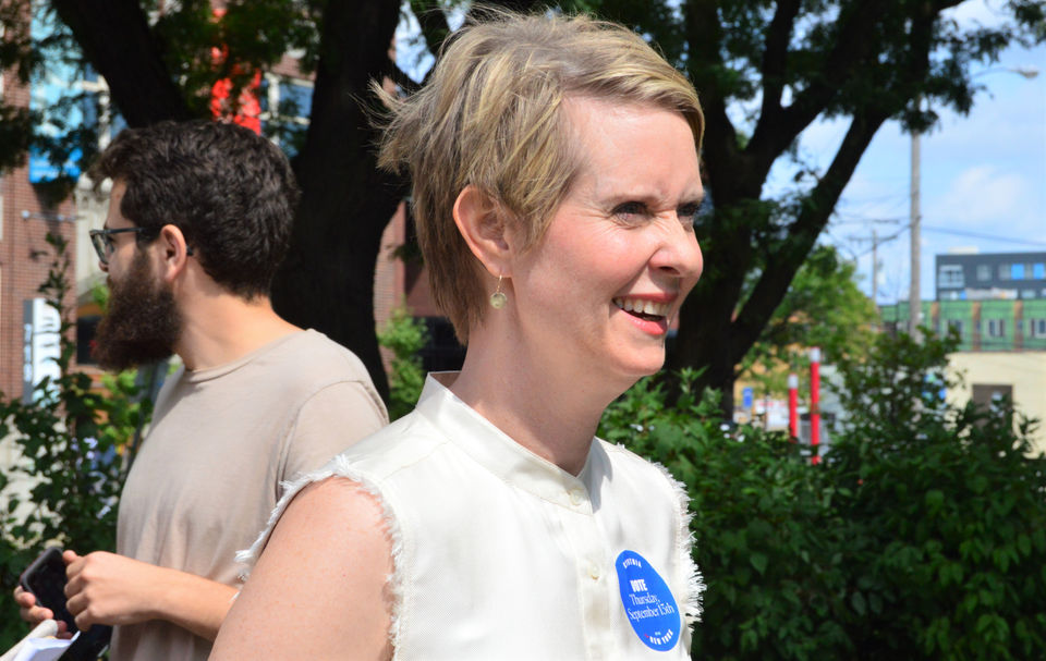 Cynthia Nixon leads among third-party candidates