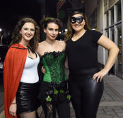 Check out the wild costumes at the Rocky Horror Masquerade Ball