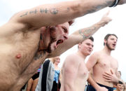Hundreds take the polar bear plunge in N.J. on spring-like New Year's Day