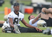 Saints receiver Cameron Meredith 'way ahead of schedule' in return from knee injury