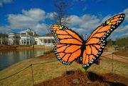Sculptures at Huntsville Botanical Garden were made from half a million LEGO bricks