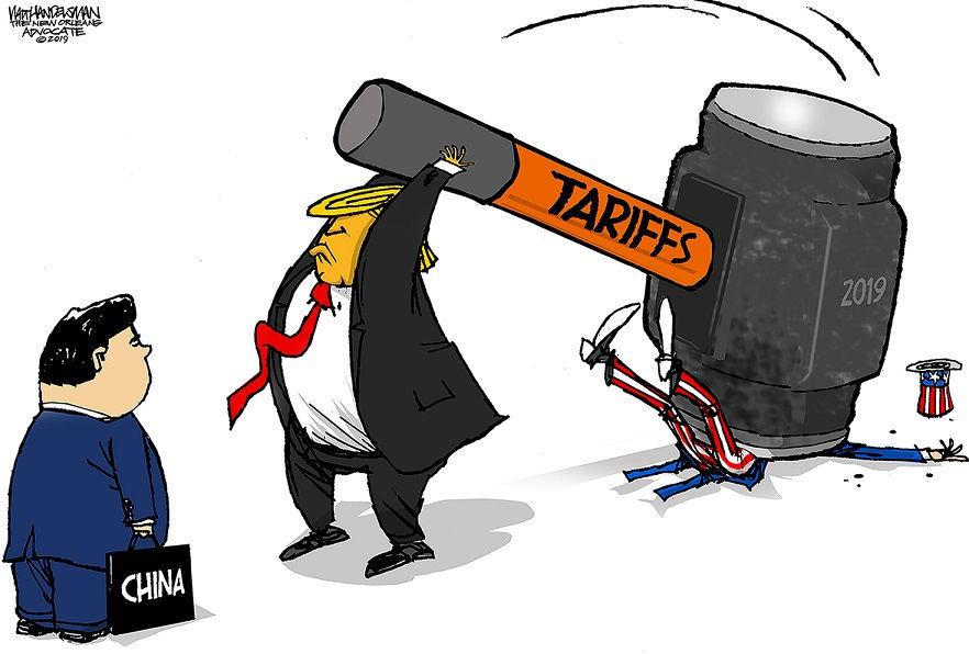 Editorial cartoons for May 12, 2019: China trade war, White House