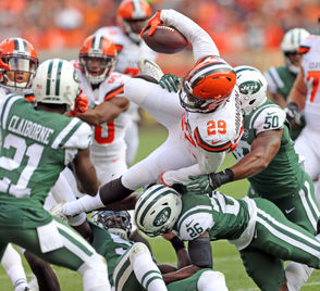 """BEREA, Ohio - The Browns conducted a walk-through Tuesday in preparation for the Jets game Thursday night at FirstEnergy Stadium, but it wasclosed to the media. Emmanuel Ogbah (ankle) has been ruled out for the second straight week, and three other players didn't participate: Seth DeValve (tight end), Christian Kirksey(shoulder/ankle), and Damarious Randall (heel). The gamefeatures Jets rookie quarterback Sam Darnold facing the team that passed on him at No. 1 in favor of Baker Mayfield. But Darnold insistshe's not out for revenge. Hue Jackson acknowledged that Duke Johnson needs to get the ball more for the Browns to be successful, and Johnson agreed. Twoformer Browns, receiver Terrelle Pryor and running back IsaiahCrowell, come to town with the Jets, and will undoubtedly have a chip on their shoulders. Jets coach Todd Bowles, in a conference call, called Browns receiver Jarvis Landry """"one of the 2 or 3 best receivers in the league."""""""