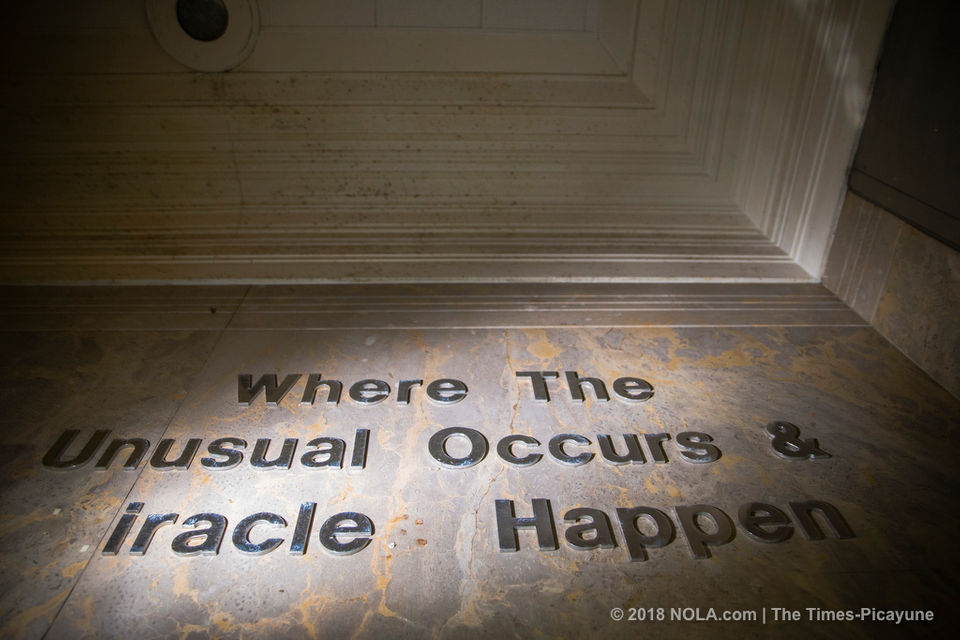 Inside the rundown site of the former Charity Hospital in downtown New Orleans