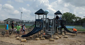 New playground equipment comes to K.C. Elementary.