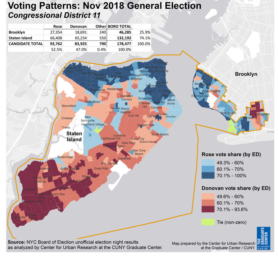 Flipped World Map.How Max Rose Flipped The Island S Congressional Seat From Red To