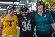 Philadelphia Eagles and Pittsburgh Steelers fans come out full force for pre-season game