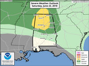 A few storms still possible tonight in north Alabama
