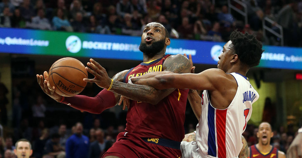 LeBron James cools off against Pistons in Cavaliers' Tuesday loss