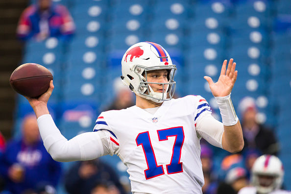 sports shoes 6c485 cc8ce Report Card: Josh Allen, Bills victorious in flag fest over ...